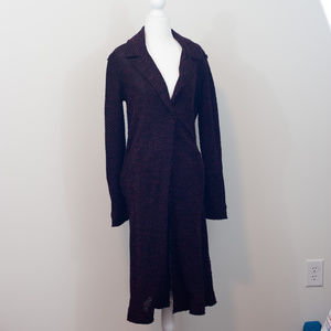 Willow & Clay Burgundy Tweed Duster Sweater